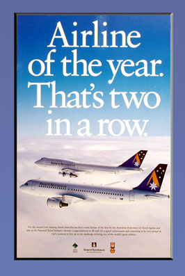 AIRCRAFT POSTER (1995 Airline of the Year)